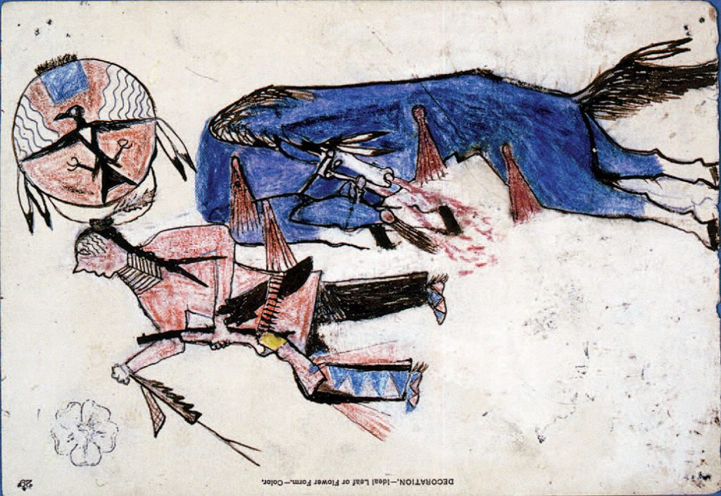 Death of Blue Roan Horse painting