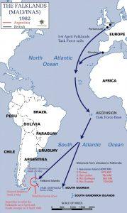 Falklands Campaign map