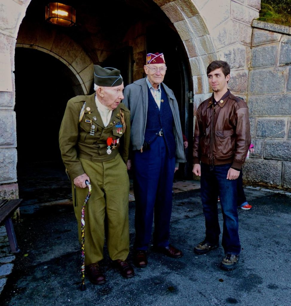 WWII veterans and D-Day tour guest