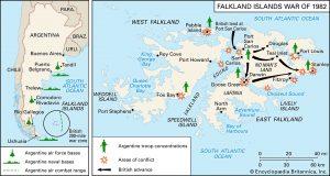 Falklands Battle Map