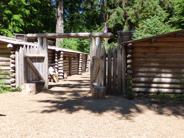 End of Lewis and Clark trail at Fort Clatsop, Oregon