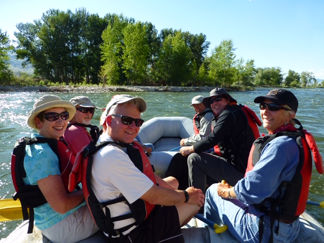 floating down the Salmon River, Idaho
