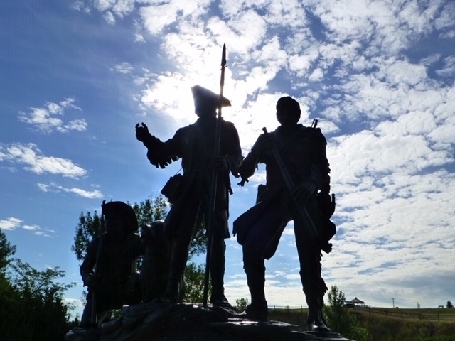 Lewis and Clark monument at Great Falls