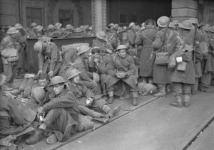 Troops evacuating from Dunkirk to Dover
