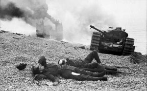 Canadian wounded at Dieppe