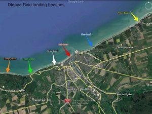 Dieppe Raid beaches