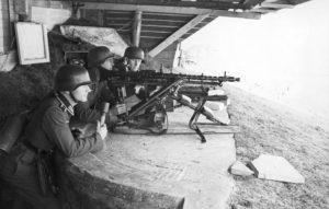 German MG34 medium machine gun emplacement