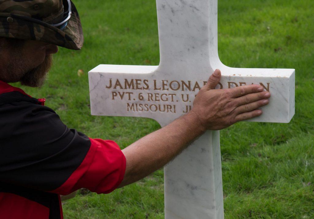 Sanding the Cross of US Marine WWII