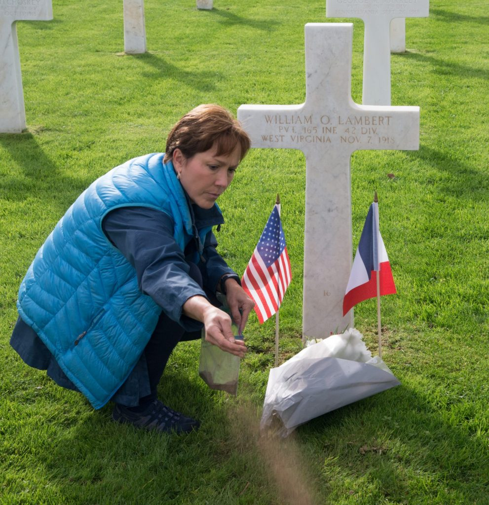 Guest Honoring Grandfather at Meuse Argonne American Cemetery