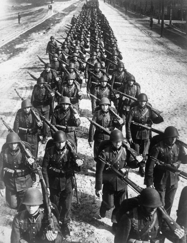 Polish soldiers defending Poland in 1939