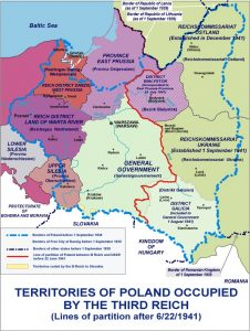 Polish territories following the 1941 German invasion of the Soviet Union