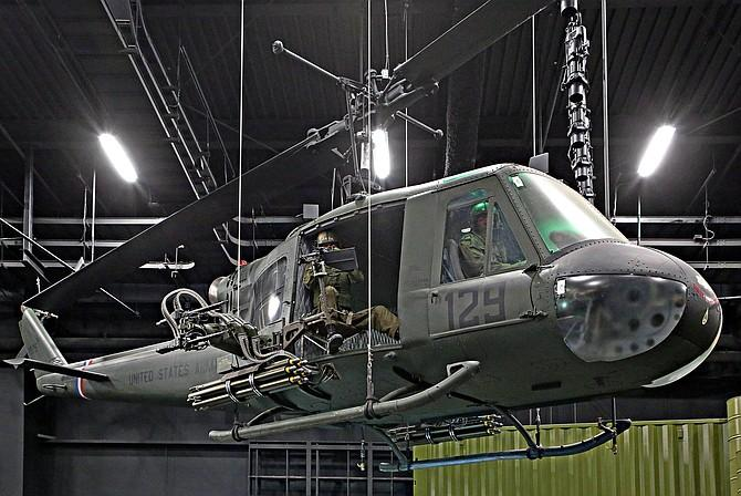 National Museum of US Army helicopter display
