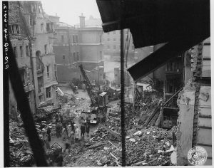 Sloane Court bombing clean up