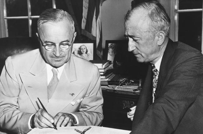 President Truman and Secretary of State Byrnes