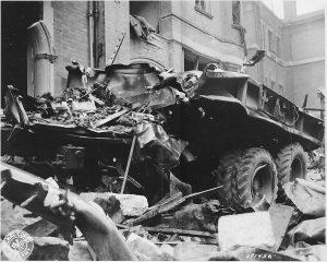 truck damaged during Sloane Court bombing