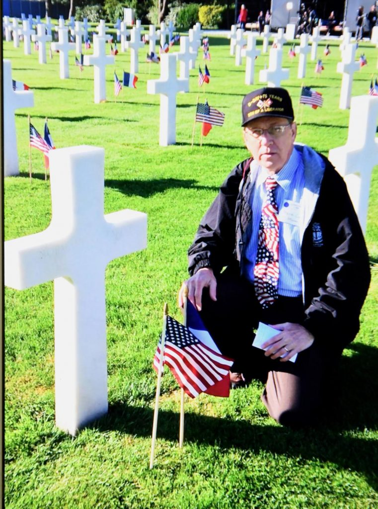 Frank Cook at Normandy Cemetery