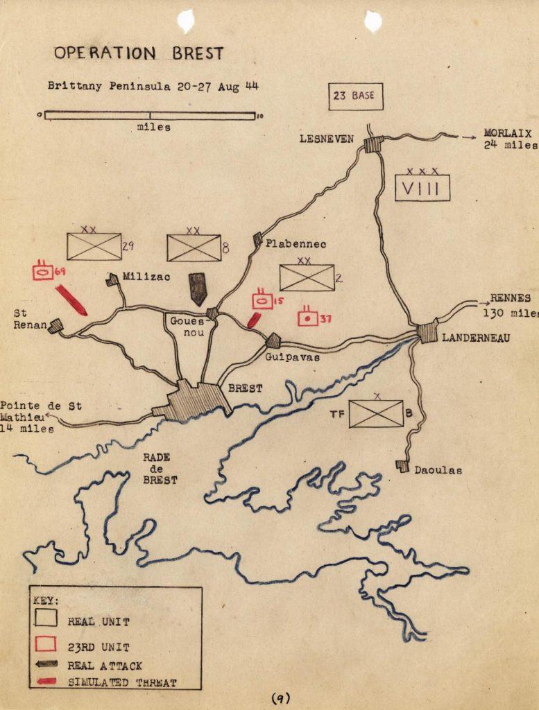 Operation Brest map
